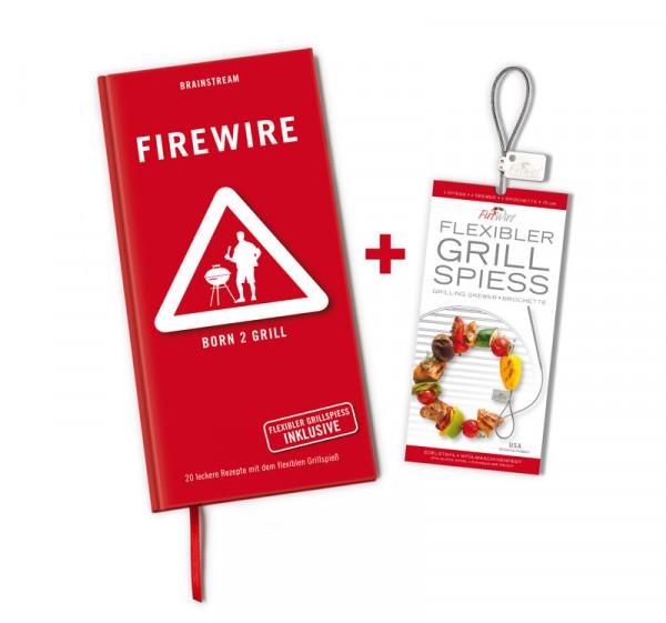 FireWire Set / Rezeptbuch + Grillspieß