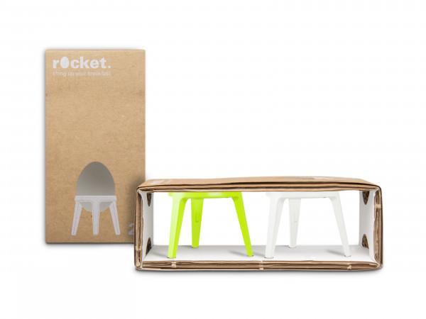 rocket / 2er-Set / Limette + Weiß